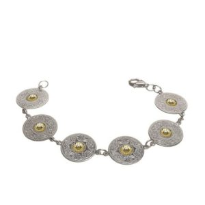 WB2B Medium Disc Bracelet with 18K Gold Bead