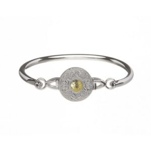 WB4B Large Wire Bangle with 18k Gold Bead