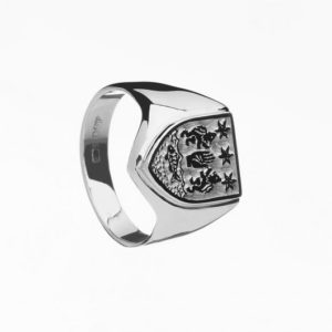 G100 Personalised Gents Heavy Shield Coat of Arms Ring