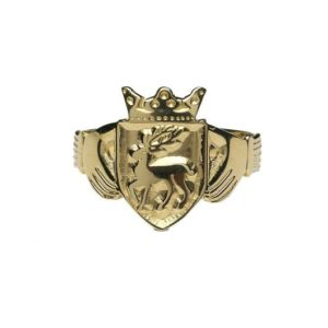 L200 Ladies Family Coat of Arms Claddagh Ring