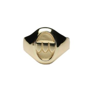 L300 Ladies Petit Oval Family Coat of Arms Ring - Solid
