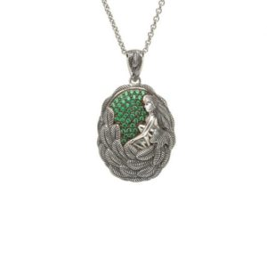 TDP01ES Danu Pendant with Green Cubic Zirconia - Small