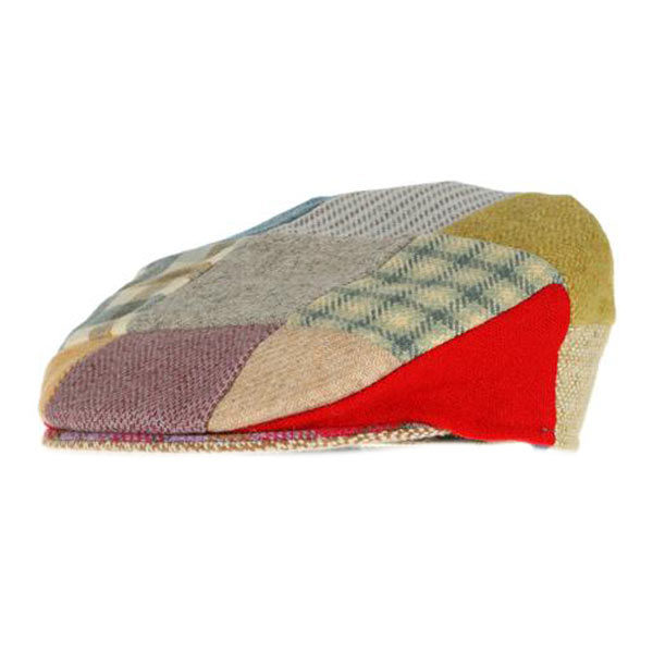 childrens-patchwork-donegal-tweed-cap-bright