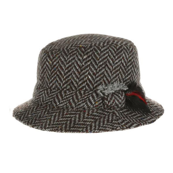 brown-herringbone-irish-tweed-hat