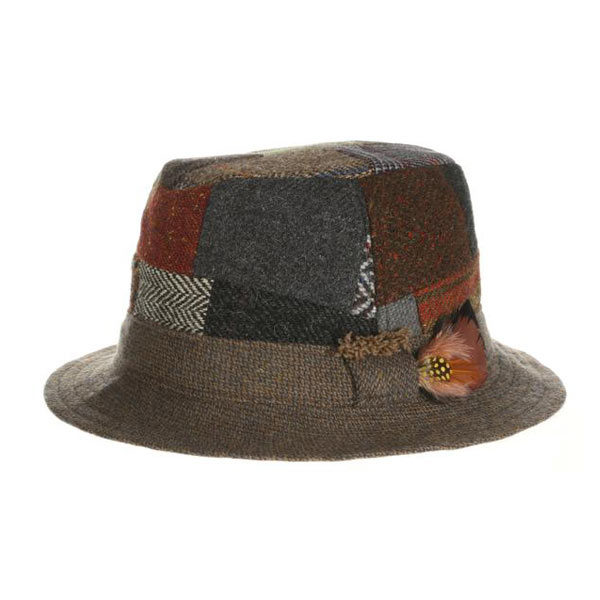 irish-tweed-walking-hat-patchwork