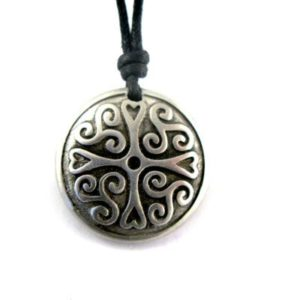 Cross of Protection Pewter Celtic Choker