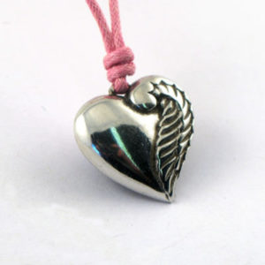 Pewter Heart Shaped Angel Choker