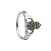 Claddagh Ring with Marcasite