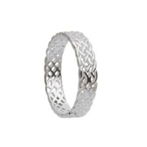 Intricate Celtic Knotwork Ring in Sterling Silver