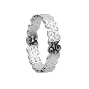 Triple Spiral Ring in Sterling Silver