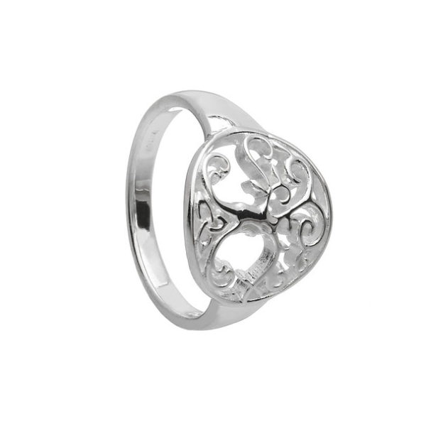Tree of Live Celtic Silver Ring
