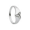 Trinity Knot Design Ring in Sterling Silver