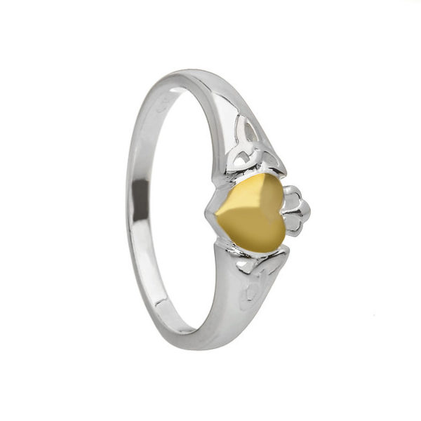 Claddagh with Gold Heart