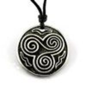 Celtic Spiral Design Pewter Choker