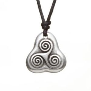 Triple Spiral Pewter Celtic Choker
