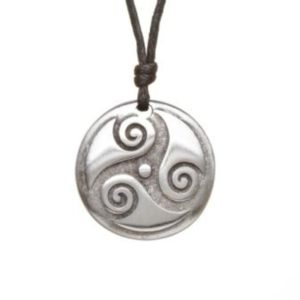 Spiral of Life Pewter Celtic Choker