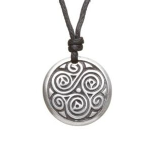 Triskele of Balance Pewter Celtic Choker