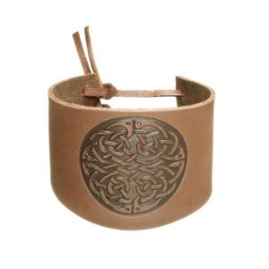 Wide Cuff Wristband with Knot-work Design