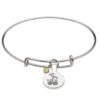 August Silver Plated Celtic Astrology Bangle