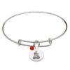 July Silver Plated Celtic Astrology Bangle