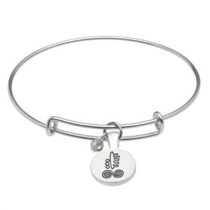 March Silver Plated Celtic Astrology Bangle