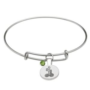 May Silver Plated Celtic Astrology Bangle