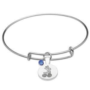 September Silver Plated Celtic Astrology Bangle