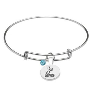 December Silver Plated Celtic Astrology Bangle