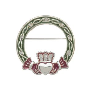 Irish Dance Brooch with Claddagh Design