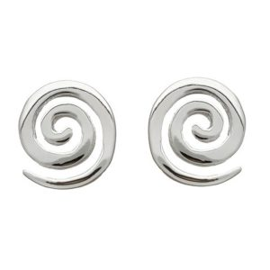 Single Spiral Stud Earrings