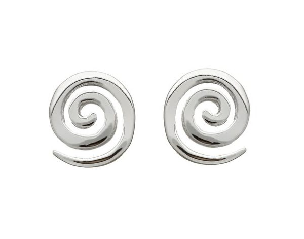 f88a2f67c Single Spiral Stud Earrings in Sterling Silver - Irish Handmade Gifts