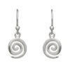 Single Spiral Drop Earrings Small