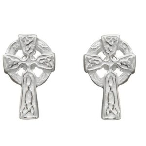 Celtic Cross Stud Earring in Sterling Silver