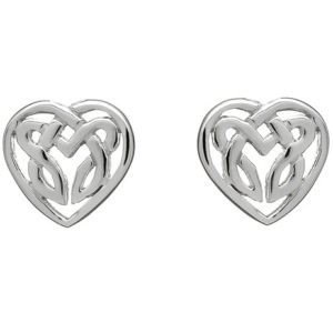 Love Knot Sterling Silver Stud Earrings