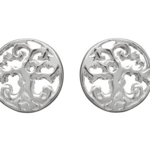 Tree of Life Stud Earrings in Sterling Silver
