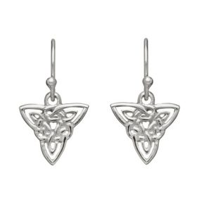 Sterling Silver Celtic Triangle Drop Earrings