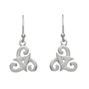 Tribal Spiral Drop Earring In Sterling Silver