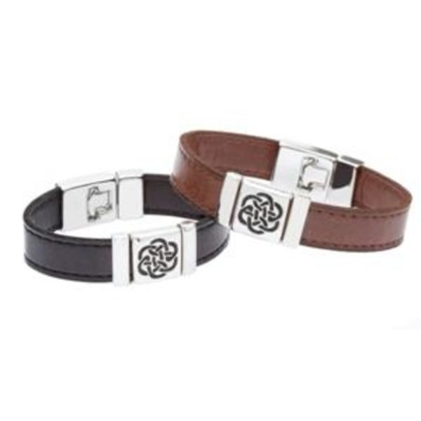 Strap Type Wristband with Eternal Knot Celtic Design