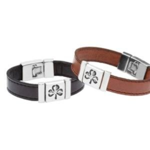 Strap Type Wristband with Shamrock Design