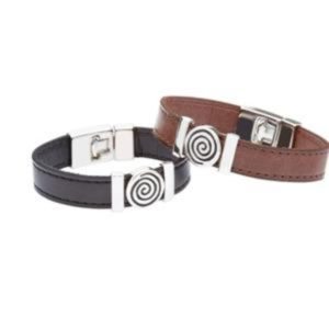 Strap Type Wristband with Celtic Spiral Design