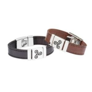 Strap Type Wristband with triple Spiral Celtic Design