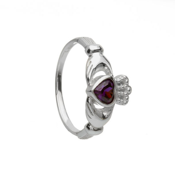 Claddagh Ring with CZ Stone