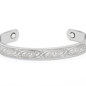 Celtic Spiral Magnetic Bangle