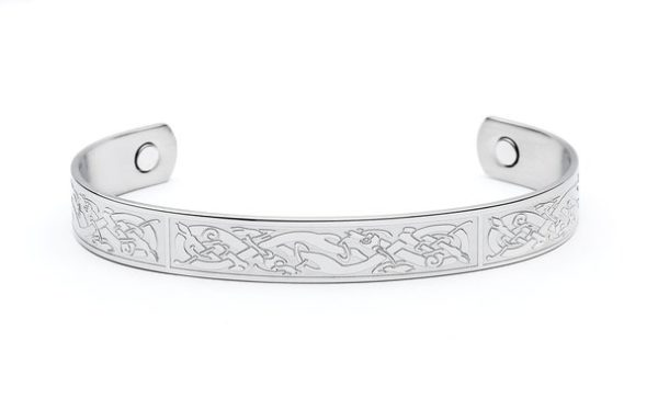 Celtic Knotwork Zoomorphic Magnetic Bangle