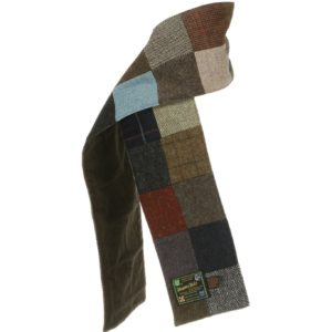Patchwork Tweed Scarf