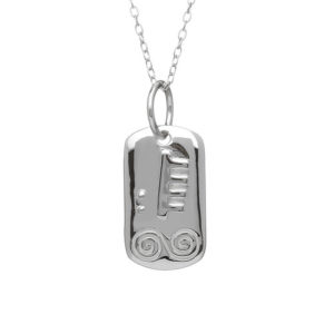 Feburary Silver Astrology Pendant