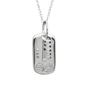 March Silver Celtic Astrology Pendant