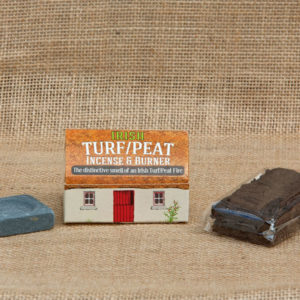 irish turf peat incence burner box contents