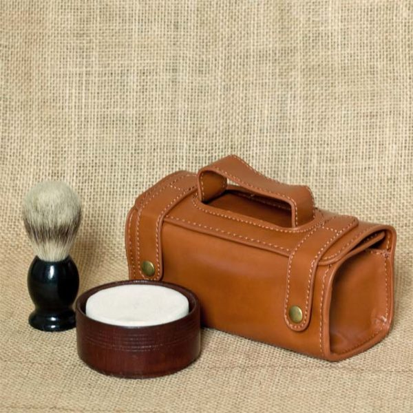 shaving set wooden with case 1