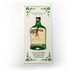 jameson whiskey bottle clock in box